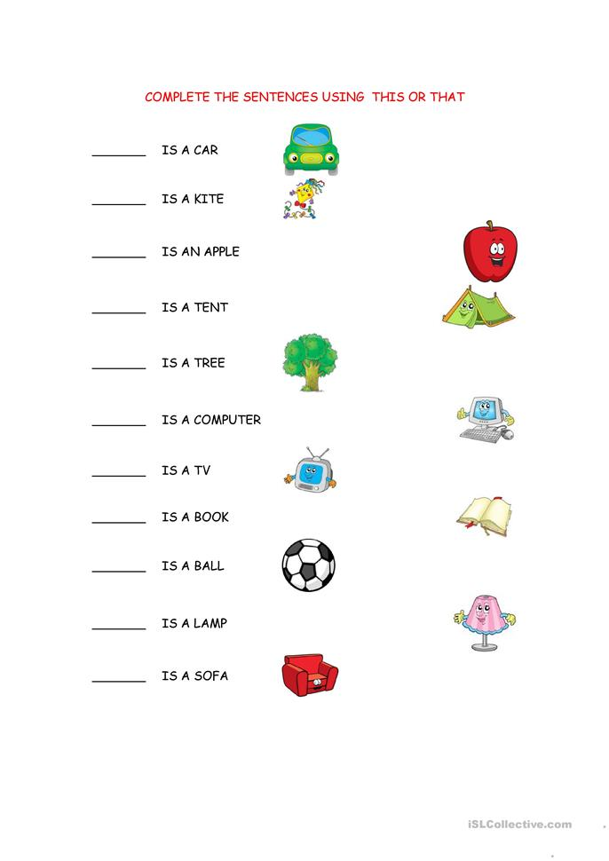 THIS/THAT WORKSHEET worksheet - Free ESL printable worksheets made by ...
