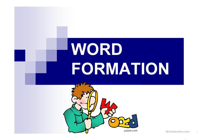 FREE ESL word formation Powerpoint presentations, exercises