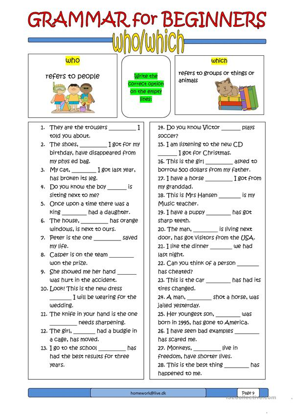 grammar for beginners who which worksheet free esl printable worksheets made by teachers. Black Bedroom Furniture Sets. Home Design Ideas