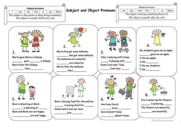 subject and object pronouns worksheet free esl printable worksheets made by teachers. Black Bedroom Furniture Sets. Home Design Ideas