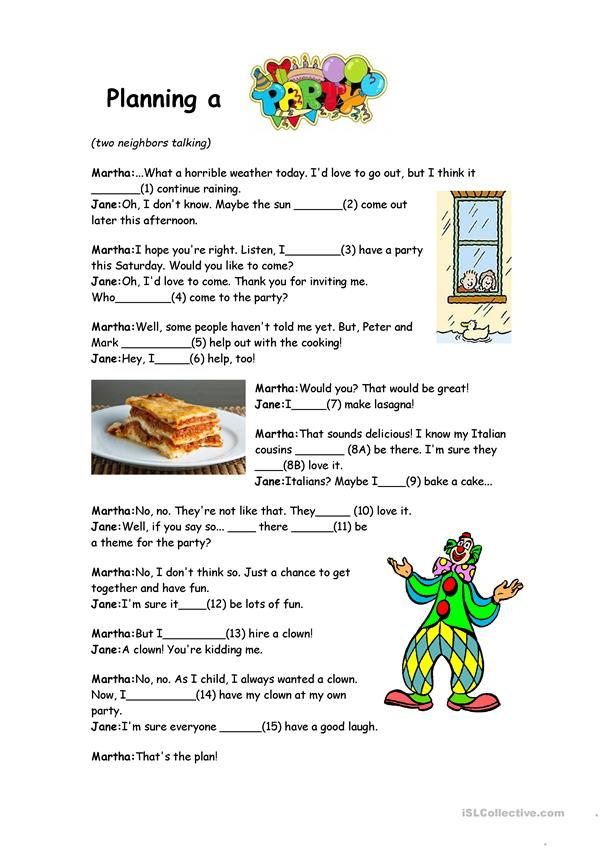 Will And Going To Reading Prehension Worksheet Free