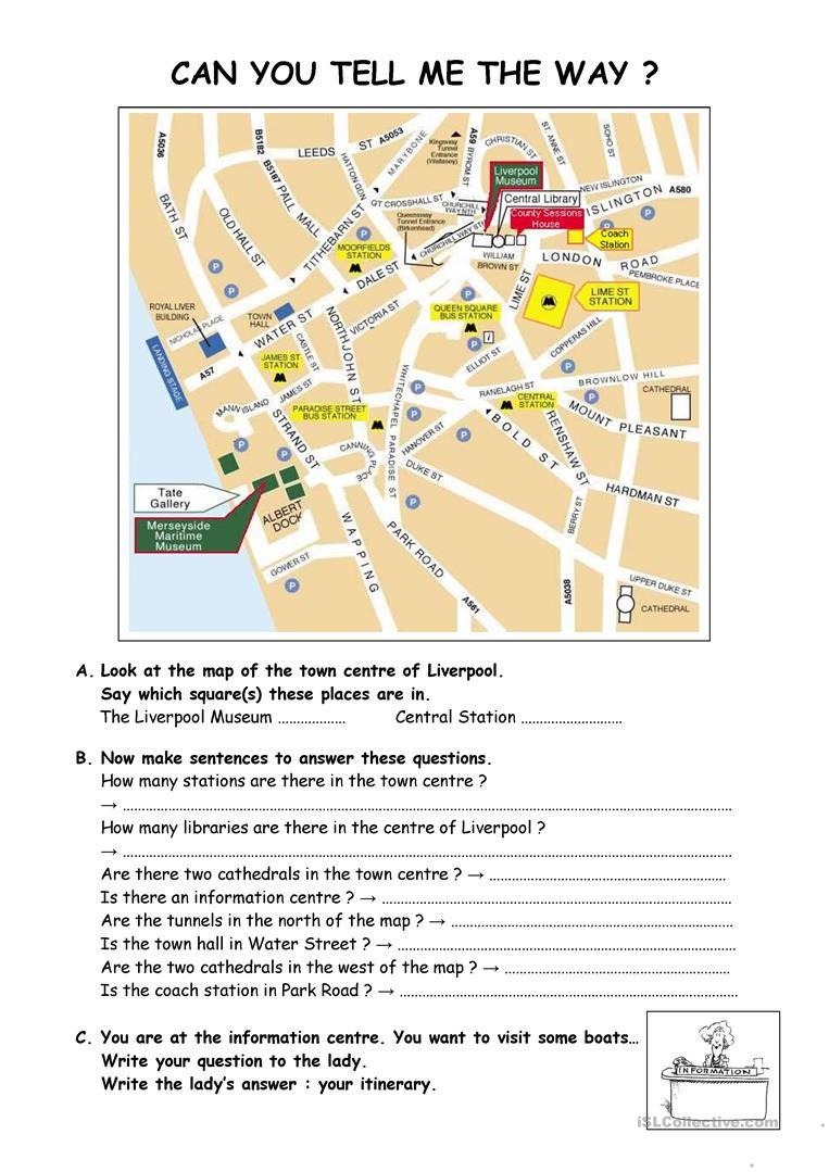 Can you tell me teh way ? - English ESL Worksheets for distance ...