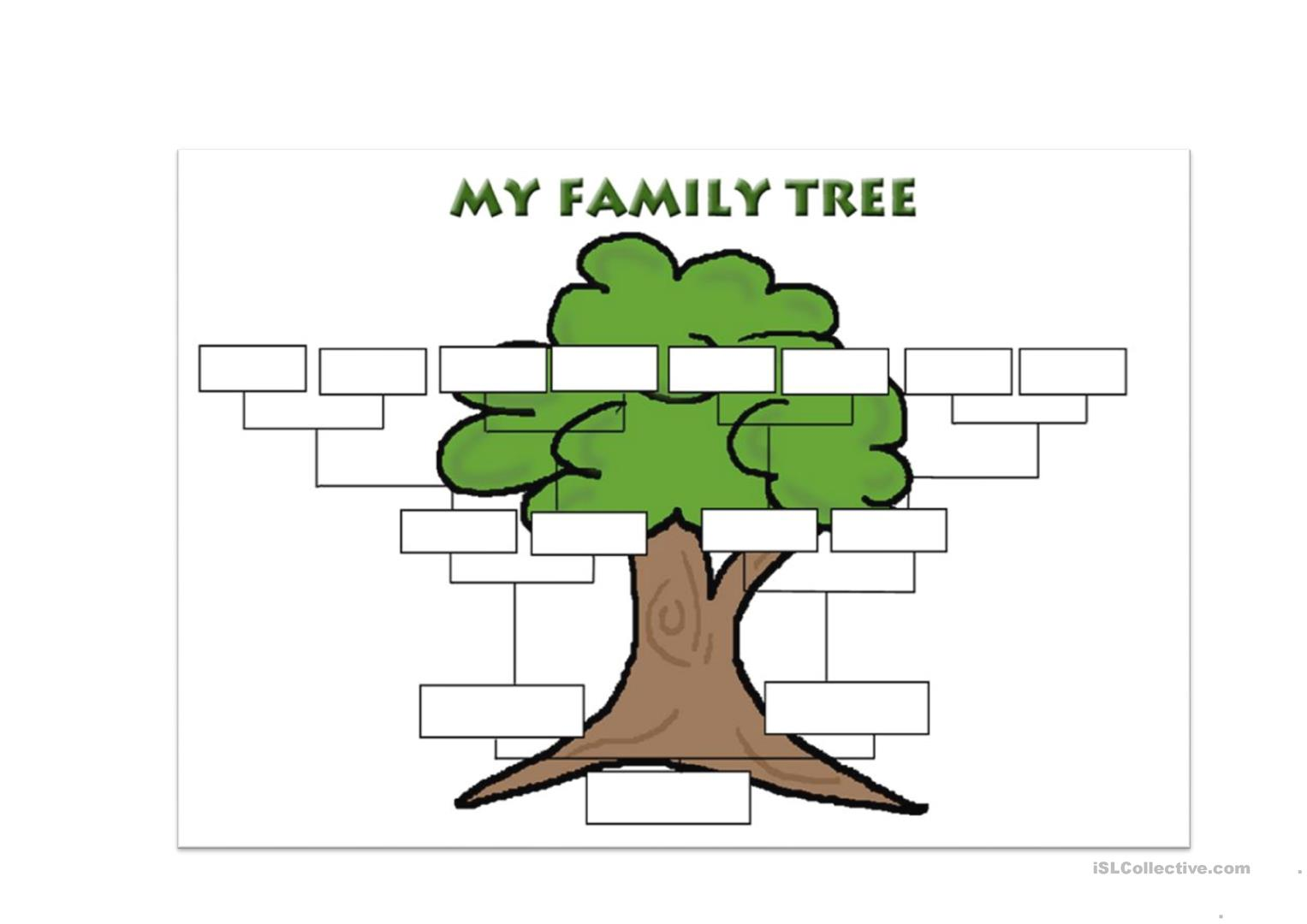 Family tree template for kindergarten 28 images for Preschool family tree template