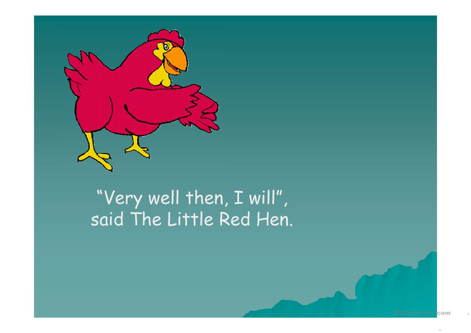 Little Red Hen worksheet - Free ESL projectable worksheets made by ...