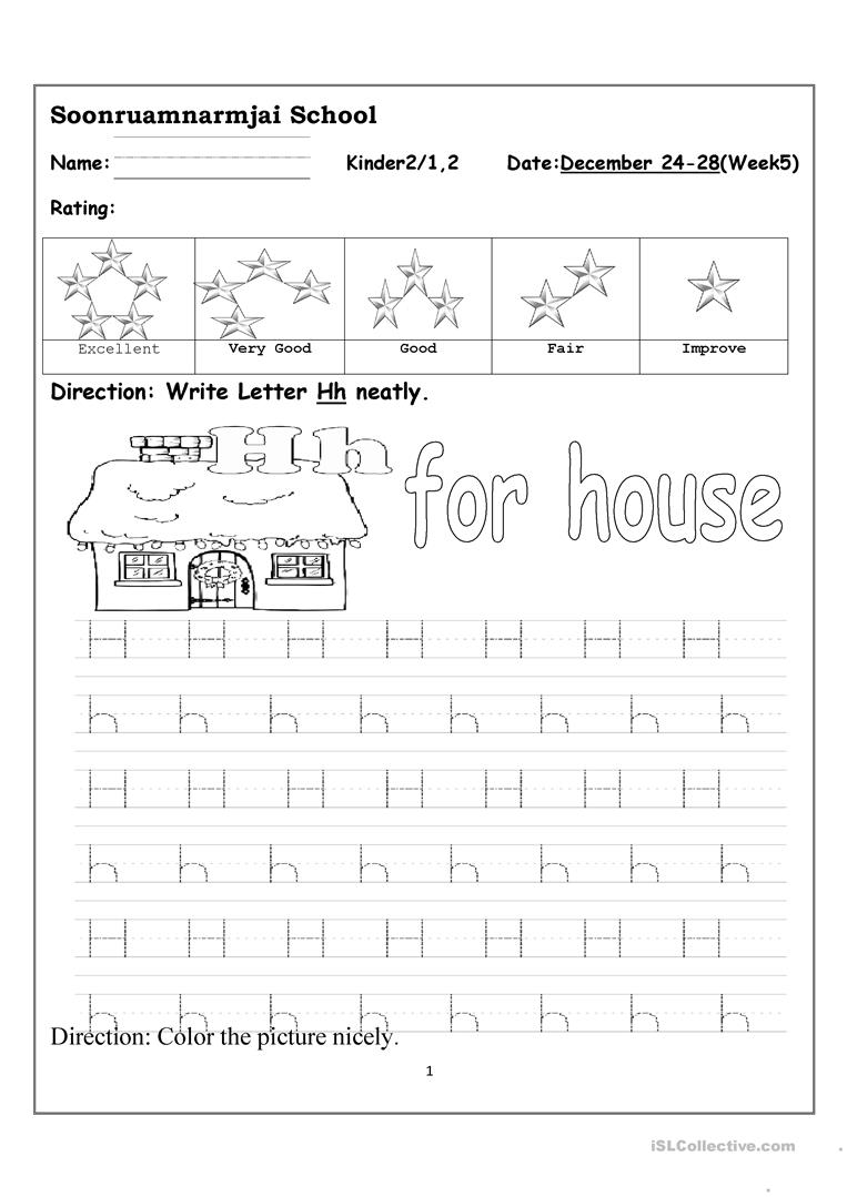 Worksheets Practice Writing Letters Worksheets practice writing letter hh worksheet free esl printable worksheets full screen