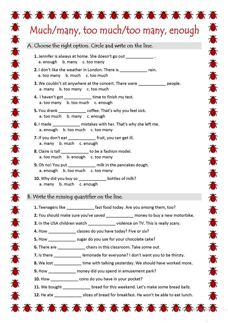 quantifiers ws worksheet free esl printable worksheets made by teachers. Black Bedroom Furniture Sets. Home Design Ideas