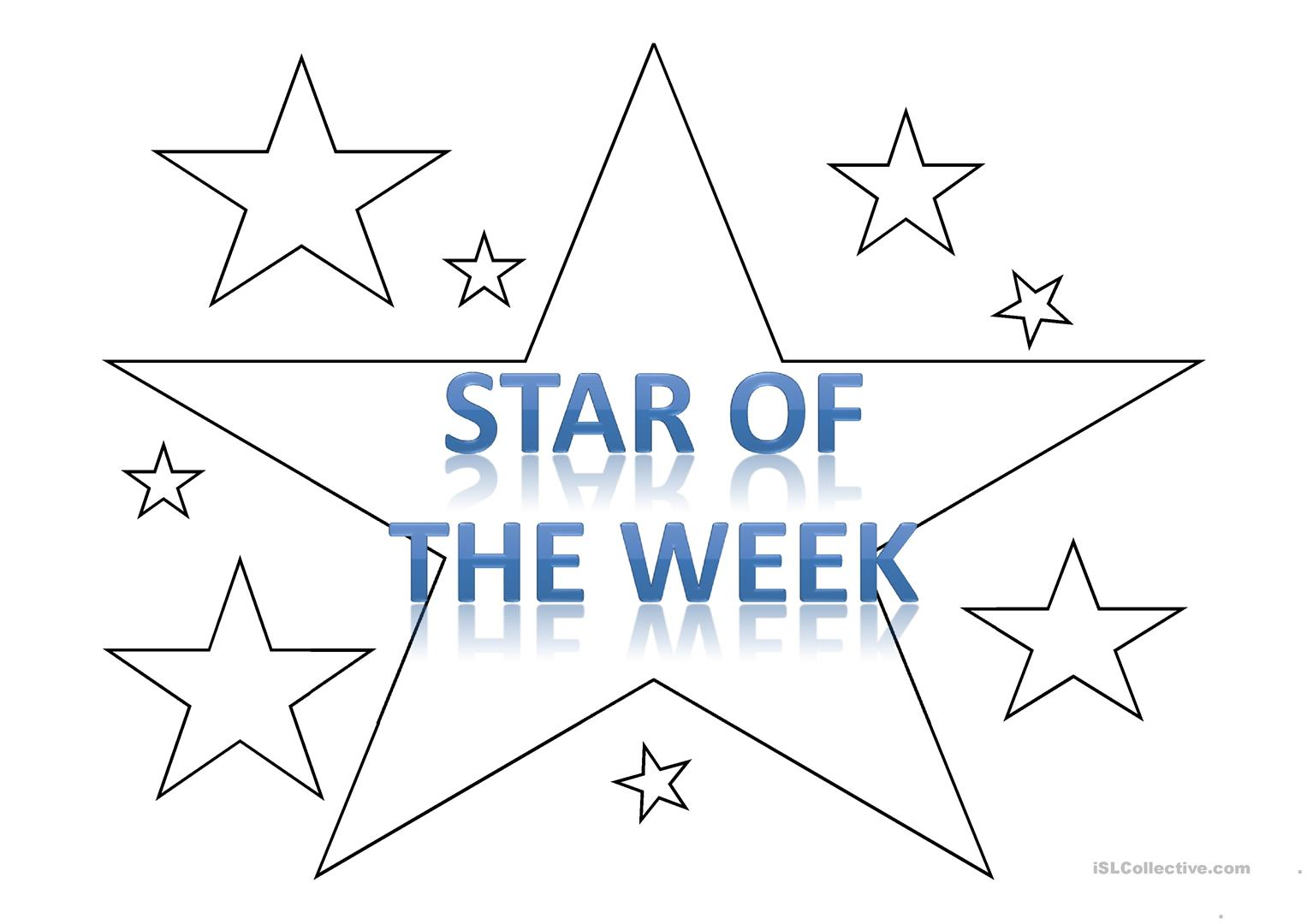 39 star of the week 39 template worksheet free esl for Star of the week poster template
