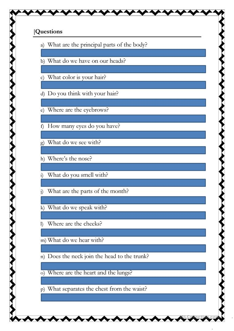 The Human Body worksheet - Free ESL printable worksheets made by ...