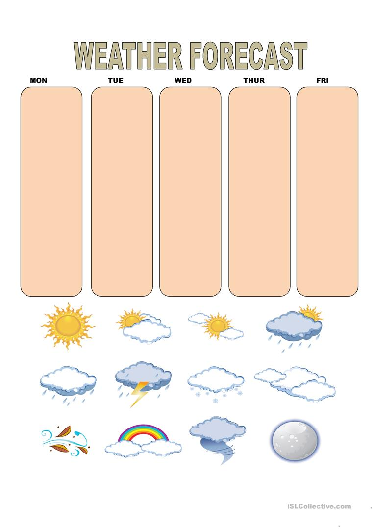 Weather Forecast worksheet Free ESL printable worksheets made by – Weather Forecast Worksheet