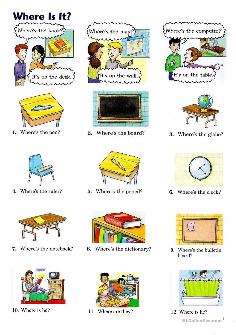 WHERE IS IT? - English ESL Worksheets