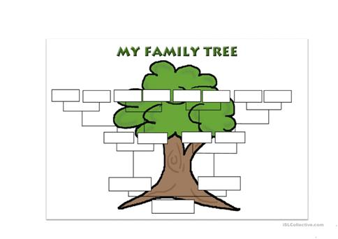 Family Tree Template Worksheet  Free Esl Printable Worksheets Made