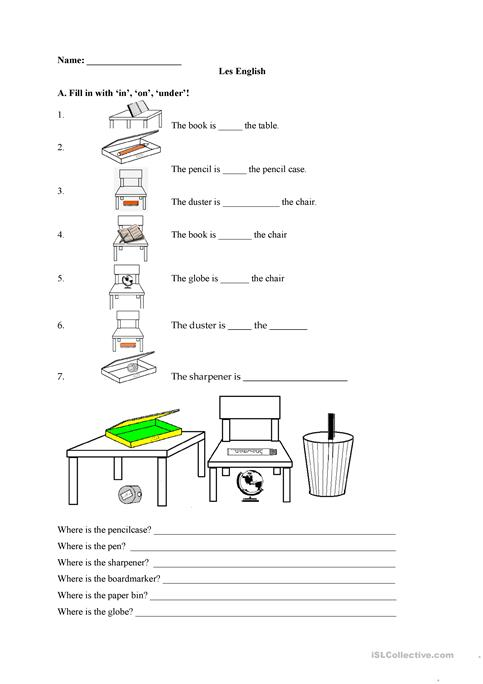 InOnUnder Worksheet  Free Esl Printable Worksheets Made By Teachers