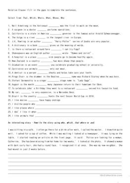 Finding Adverb Clauses Worksheet | Englishlinx.com Board ...
