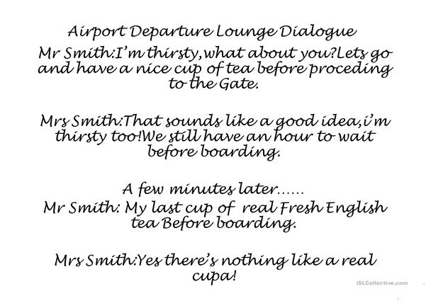 AIRPORT DEPARTURE LOUNGE DIALOGUE