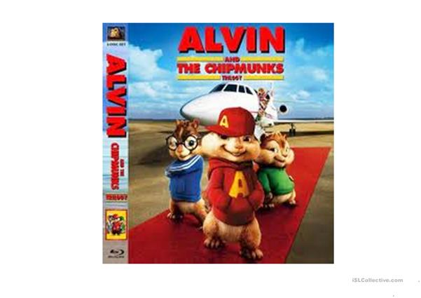 Alvin and the chip munk 1 - Vocabulary