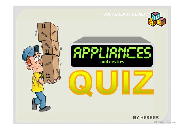 APPLIANCES QUIZ PPT