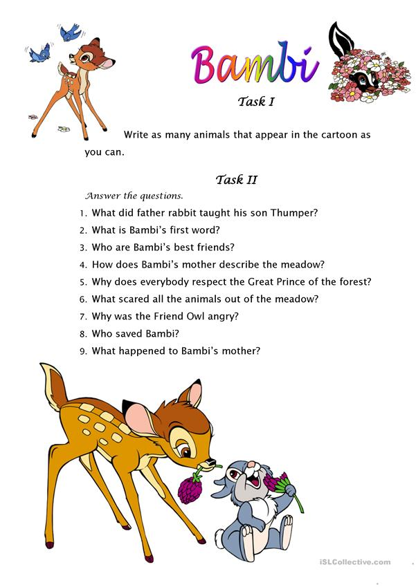 Bambi movie activity