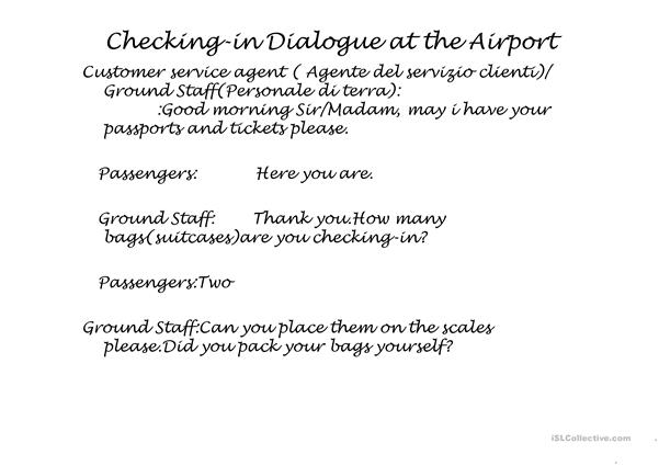 Checking-in at the Airport