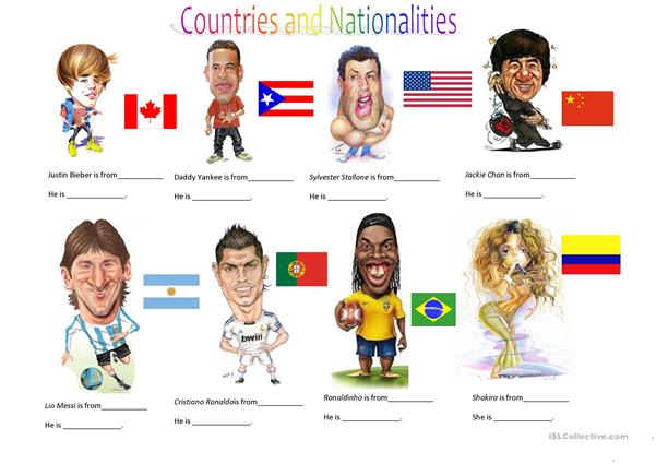 Countries and Nationalities I