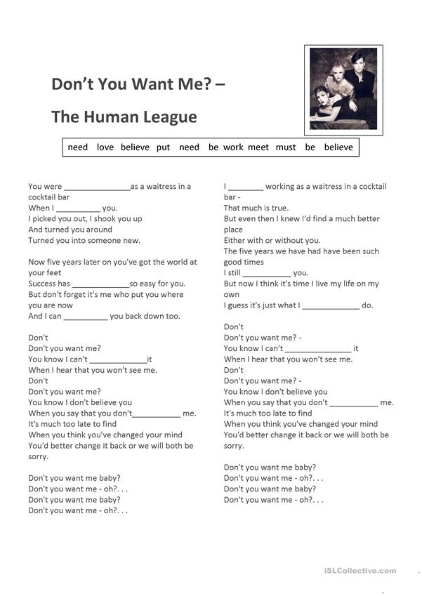 Don't You Want Me - The Human League