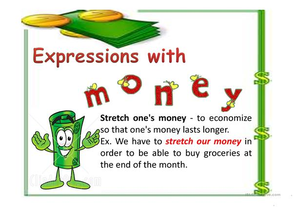 Expressions with money