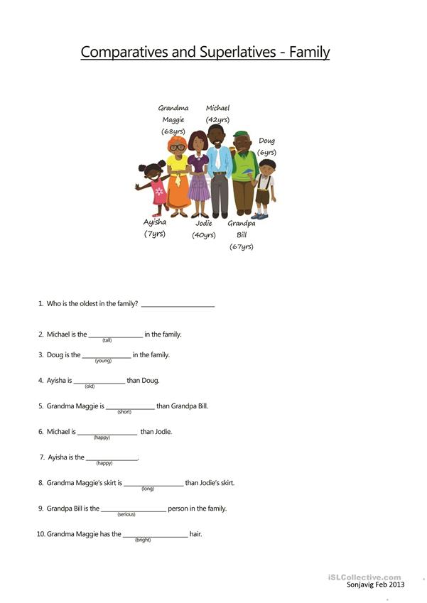 Family Comparatives and Superlatives