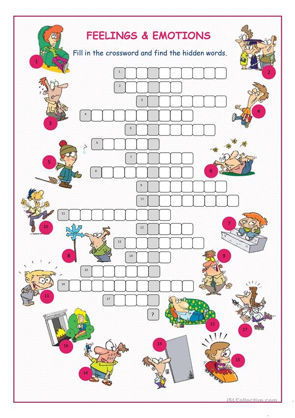 Feelings&Emotions Crossword Puzzle