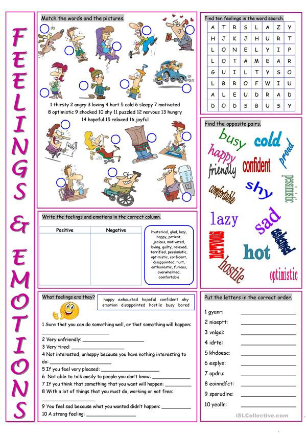 Feelings&Emotions Vocabulary Exercises