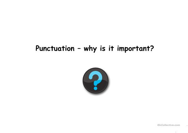 Importance of punctuation