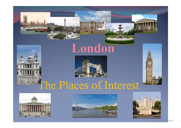 London. The Places of Interesrt.