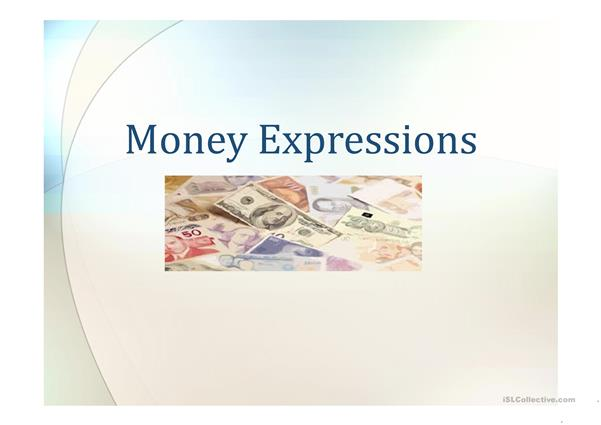 Money Expressions