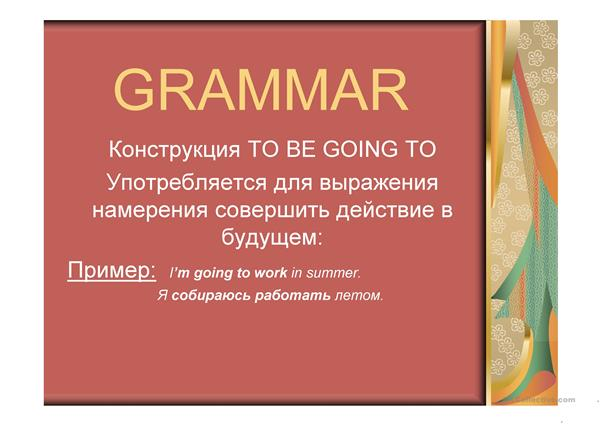PPT_to be going to+ for RU speakers