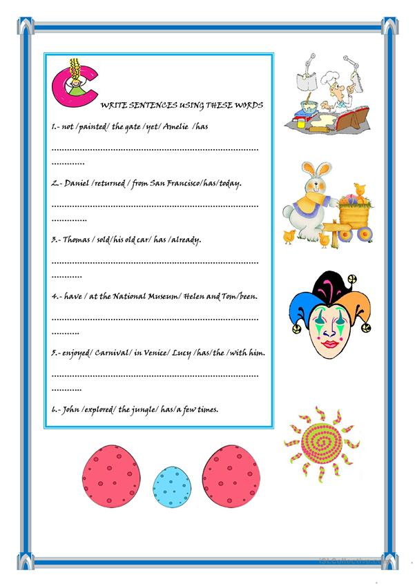 PRESENT PERFECT TENSE (2 pages)