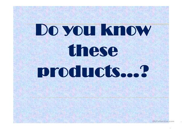 Products from other countries