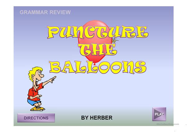 PUNCTURE THE BALLOONS PPT