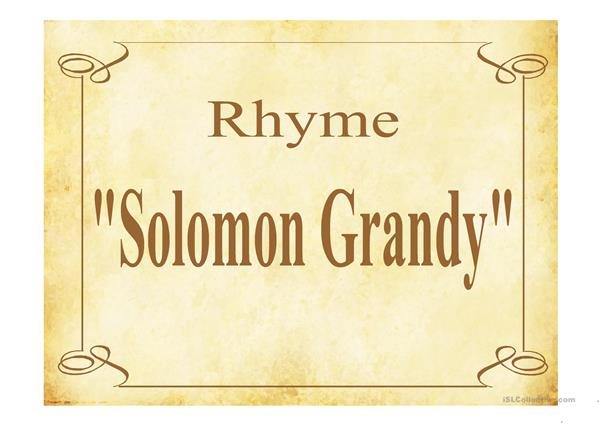 SOLOMON GRANDY PPT
