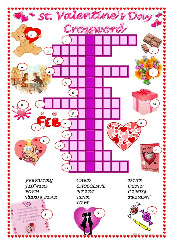 St. Valentine's Day  - Crossword