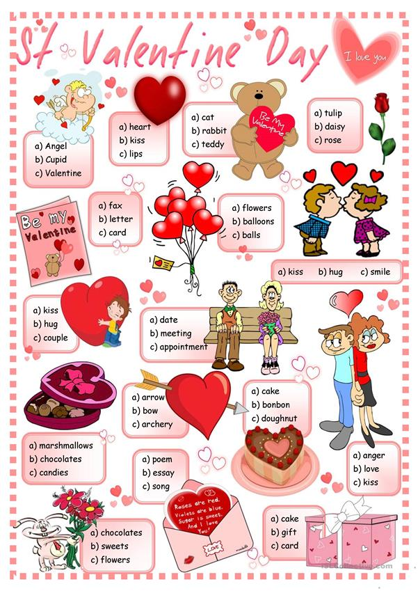 St Valentine's Day - quiz