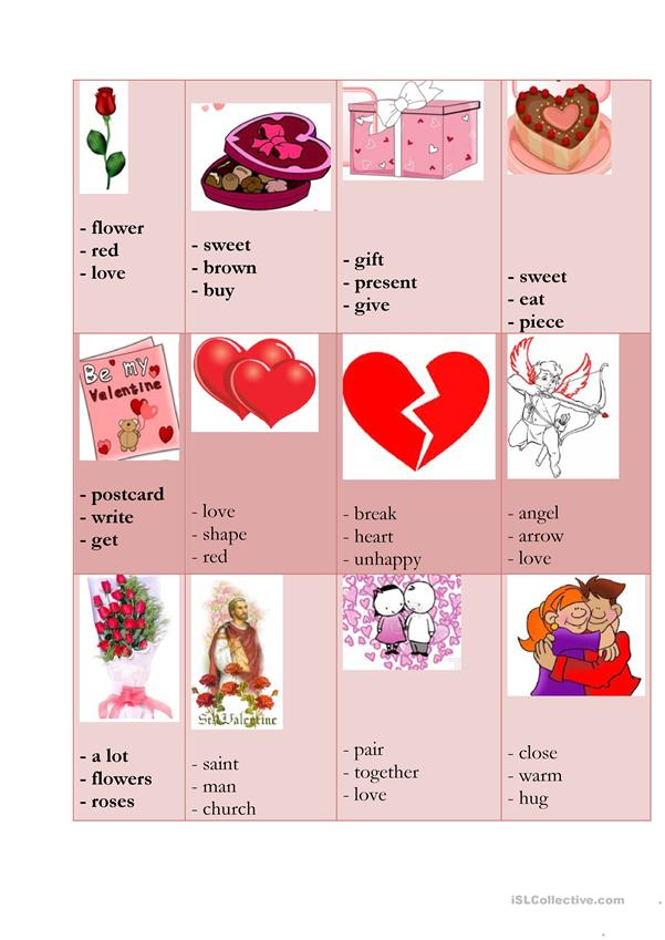 Valentine's taboo cards