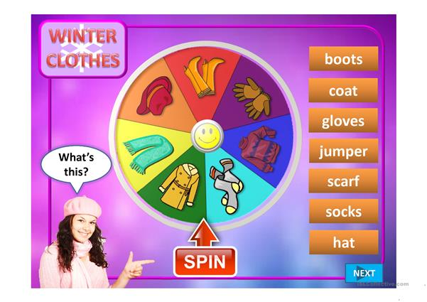 WHEEL OF CLOTHES PPT