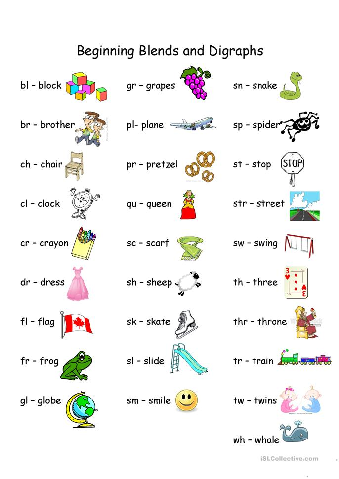 Printables Blends Worksheets 22 free esl blends worksheets beginning and digraphs