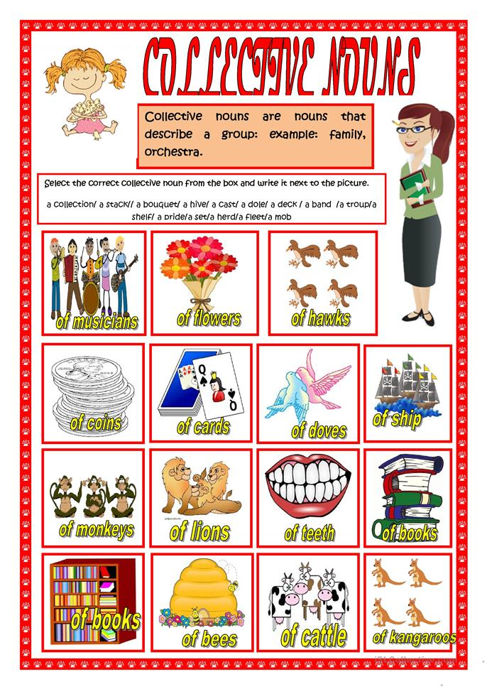 Collective Nouns Poster : www.imgkid.com - The Image Kid ...