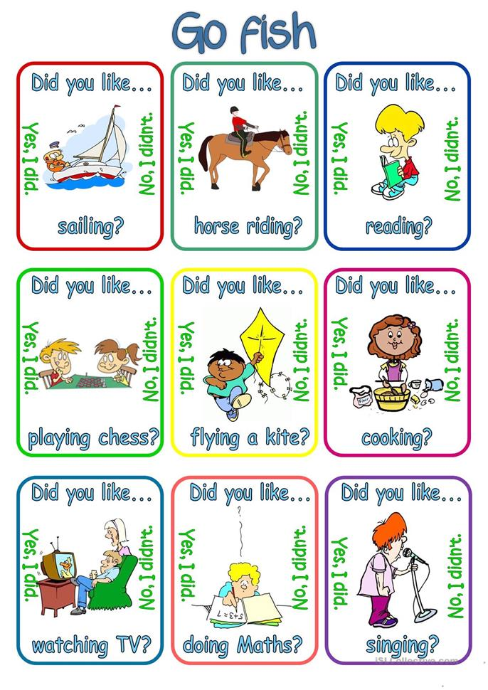This is a graphic of Zany Printable Go Fish Cards