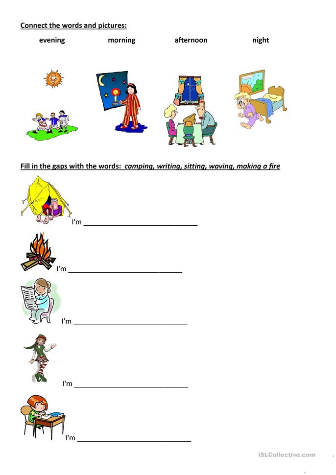 Happy Street 2 Camping Intro - ESL worksheets