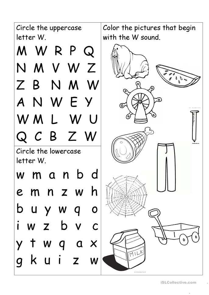 letter w worksheet worksheet free esl printable worksheets made by teachers. Black Bedroom Furniture Sets. Home Design Ideas