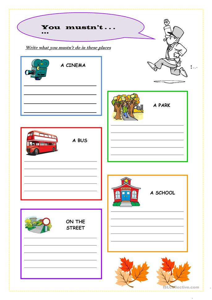 mustn't worksheet - Free ESL printable worksheets made by ...