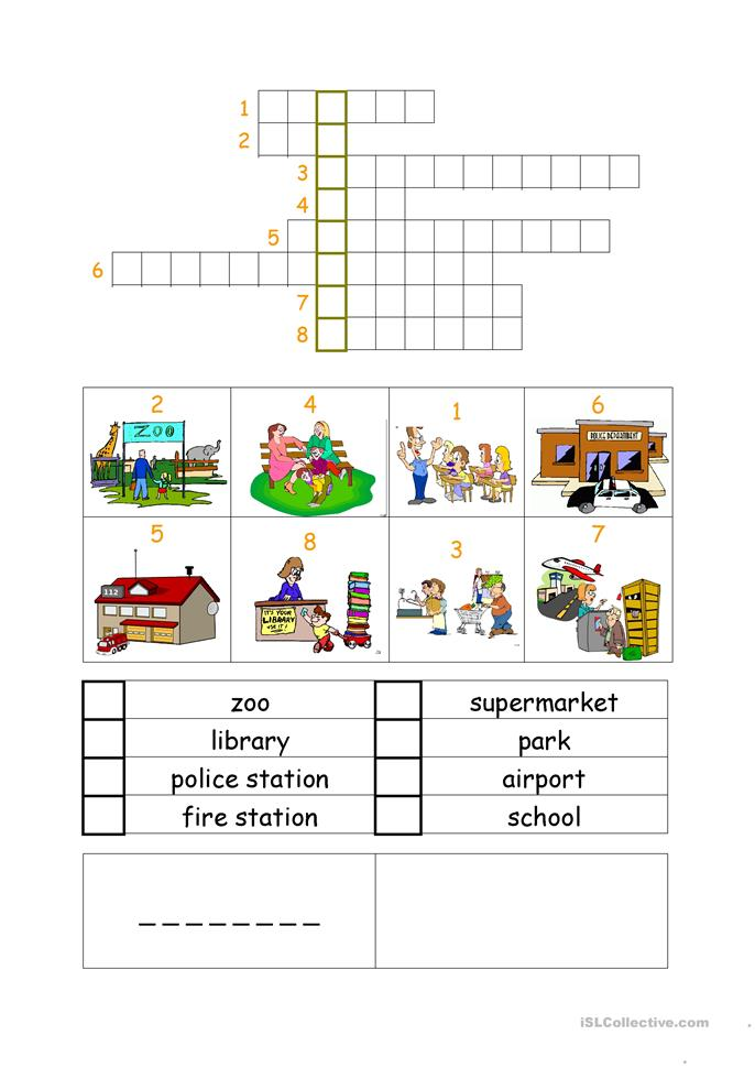 Places crossword worksheet free esl printable worksheets for Century plant crossword clue