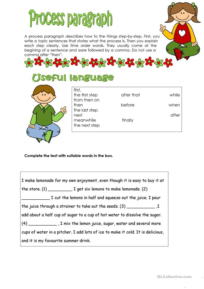 expressing the descriptive paragraph Determine which preposition to use for expressions of time and place within a paragraph use 'in', 'on', or 'at.