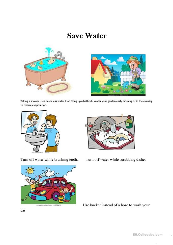 Let&#39s Save Water: Water Conservation 2nd - 4th Grade Worksheet ...