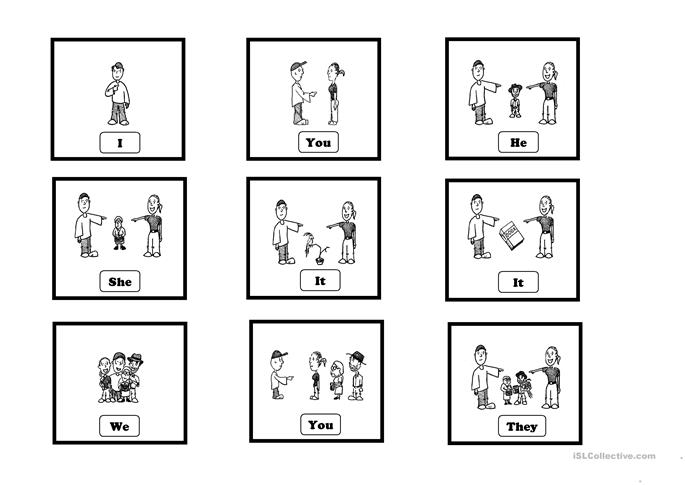 Subject Pronouns - Cards worksheet - Free ESL printable worksheets ...